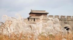 The ancient city in the fall Chinese ancient tower, Dynasty, Xinhai Revolution Stock Footage