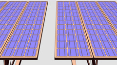 Sketchy solar panels 8K seamless loopable CG animation. ProRes Stock Footage