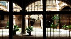 Old courtyard in Palma, Mallorca, Spain Stock Footage