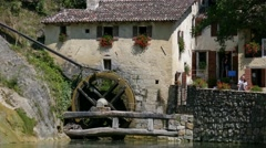 Molinetto della Croda (watermill) - Horizontal motion view Stock Footage