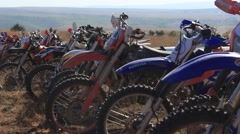 Different Kind of Motobikes at the Moto Cross Competition Stock Footage