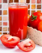 Tomatoes Juice Beverage Meaning Refreshment Refreshments And Drinks Stock Photos