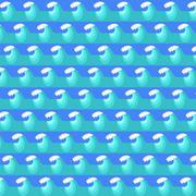 Sea Wave Background. Blue Water Pattern Stock Illustration
