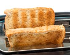 Toasted Bread Meaning Breakfast Toasts And Breaks Stock Photos