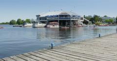 Paddle Boating And Kayaking On Dows Lake Stock Footage