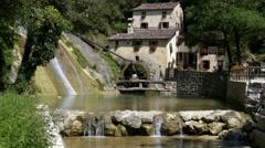 Molinetto della Croda (watermill) - Motion view Stock Footage