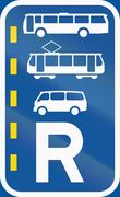 Road sign used in the African country of Botswana - Reserved lane for buses,  Stock Illustration