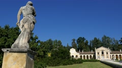 Maser - Villa Barbaro, horizontal motion view Stock Footage