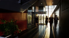 4K Diverse team of business people in a light and modern office building Stock Footage