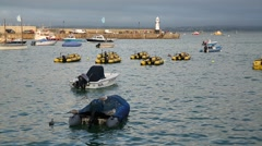 Inflatable Boats in Europe Stock Footage