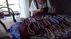 Handicraft Jewellery Stock Footage