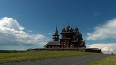 Kizhi open air museum of wooden architecture Stock Footage