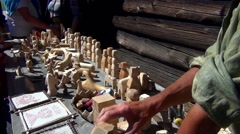 Russian Wooden Toys Stock Footage
