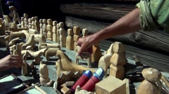 Ecological wooden toys Stock Footage