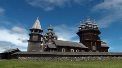 The churches of Kizhi Stock Footage