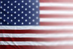 Faded selective focus American flag Stock Photos