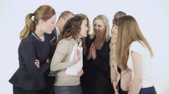 4K Attractive and excited group of young professionals celebrate some good news Stock Footage