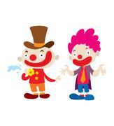 Clown character vector cartoon illustrations Stock Illustration