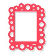 Photo frame vector isolated Stock Illustration