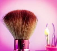 Foundation Makeup Brush Indicating Beauty Product And Cosmetology Stock Photos