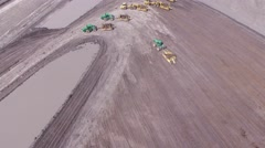 Construction Vehicle Flyover Stock Footage