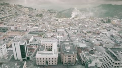 Panoramic view of city on foggy day Stock Footage
