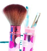 Makeup Foundation Brush Representing Beauty Products And Facial Stock Photos