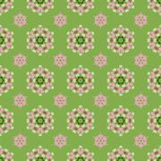 Creative Seamless Ornamental Mosaic Pattern Stock Illustration
