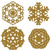 Set of Different Rope Ornaments Stock Illustration