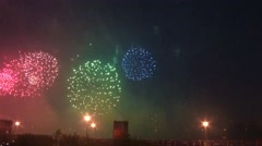 Very beautiful fireworks 10.mp4 Stock Footage