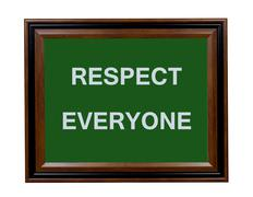 Respect Everyone sign Stock Illustration