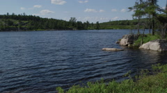 Still shot of northern lake flowing water Stock Footage
