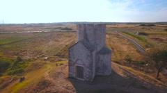 Flying around medieval St. Nicholas church in Croatia 4K Stock Footage