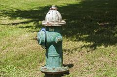 Classic fire hydrant by road Stock Photos