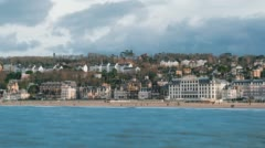 Trouville, France, Timelapse  - The Beach Stock Footage