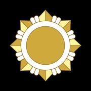 Medal award icon Gold star order Stock Illustration