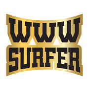 WWW internet surfer typography graphics gold Piirros