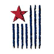 American vertical flag symbol celebration Independence Day Stock Illustration