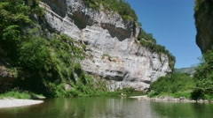 Tarn River Natural Landscape With Gorge And Canyons In France Stock Footage