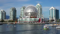 Vancouver Aquabus on False Creek Stock Footage