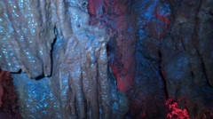 Cavern - caves with stalactites Stock Footage