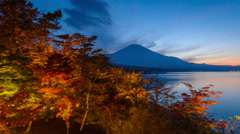 Mt. Fuji, Japan during autumn. Stock Footage
