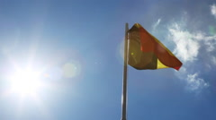 National flag of Belgium on a flagpole Stock Footage