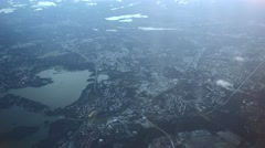 Helsinki surroundings from above, aerial view Stock Footage