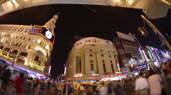Busy Street Traffic in Shanghai, China Stock Footage