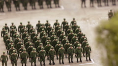 Construction of soldiers on parade ground Stock Footage