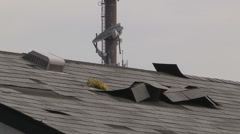 Severe weather and tornado damage Stock Footage