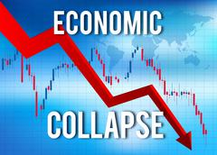 Economic Collapse Financial Crisis Piirros