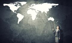 Controlling the whole world Stock Photos