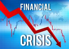 Financial Crisis Economic Collapse Market Crash Stock Illustration